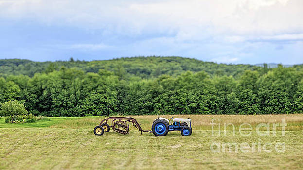 Vintage Ford Tractor Tilt Shift by Edward Fielding