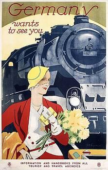 Vintage German vacation poster by Allen Beilschmidt