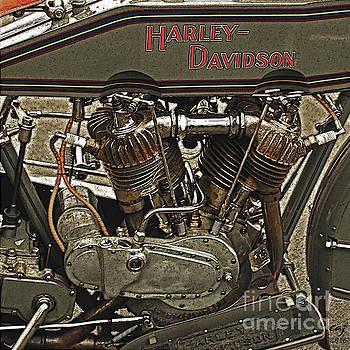 Vintage Harley Davidson. by Curt Johnson