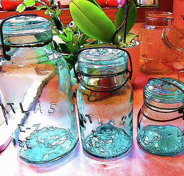 Vintage Home Canning Jars by Kathy Clark