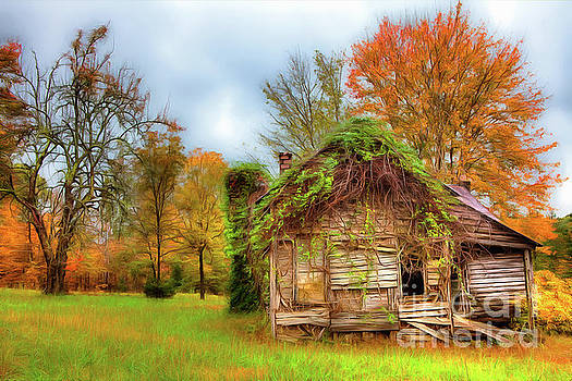 Dan Carmichael - Vintage House Surrounded by Autumn Beauty AP