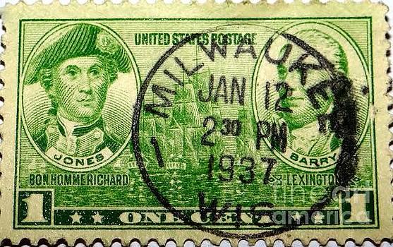 Vintage Milwaukee 1937 Postmark by Ecinja Art Works