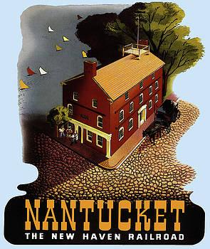 Vintage Nantucket Travel Poster by Joy McKenzie