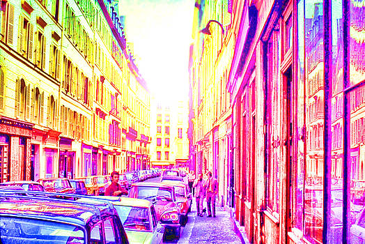 Cindy Boyd - Vintage Paris Street in rainbow