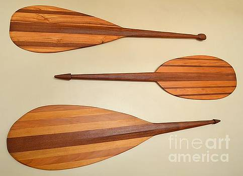 Mary Deal - Vintage Polynesian Canoe Paddles