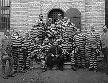 Vintage Prisoners In Striped Uniforms - 1889 by War Is Hell Store