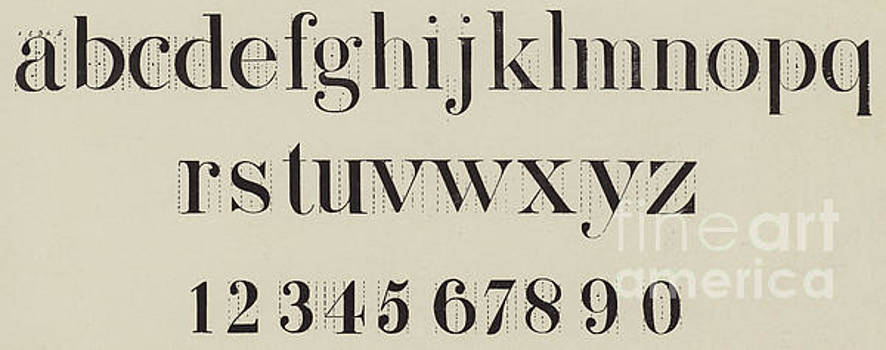 Vintage Roman Analytical Font by English School