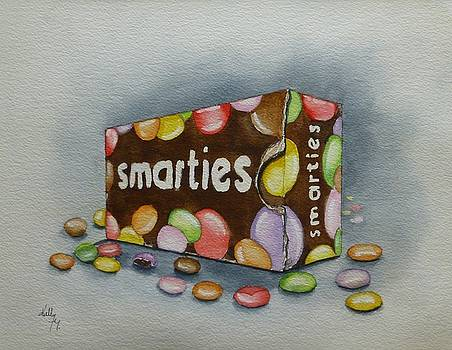 Vintage Smarties Box by Kelly Mills