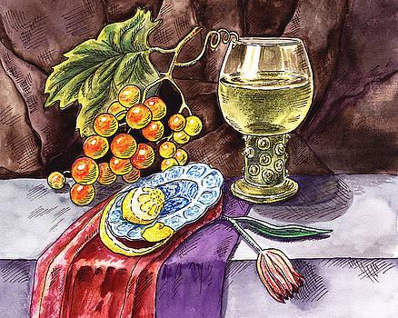 Irina Sztukowski - Vintage Still Life With Grape And Lemon