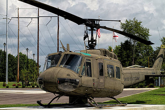 Vintage UH-1 Huey Helicopter by Kathy Clark