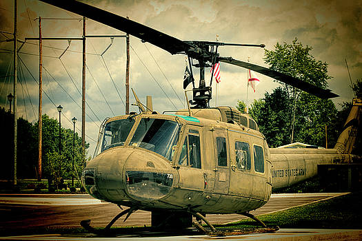 Vintage UH-1 Huey Helicopter Vignette by Kathy Clark