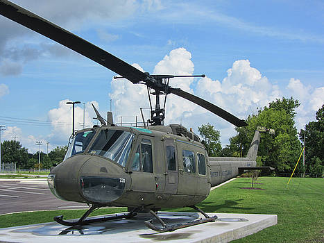 Vintage UH-1 Huey Military Helicopter by Kathy Clark