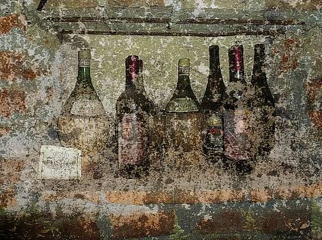Vintage Wine Bottles - Tuscany  by Jen White