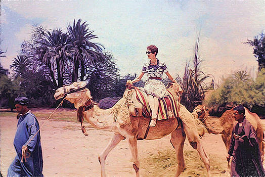 Cindy Boyd - Vintage Woman on a Camel in Africa