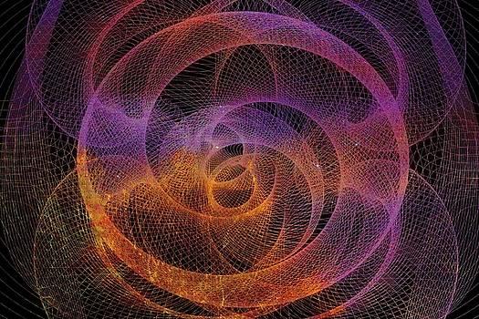 Violet Dreams Spirograph by Regina Williams