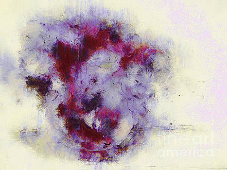 Violets Abstract by Claire Bull