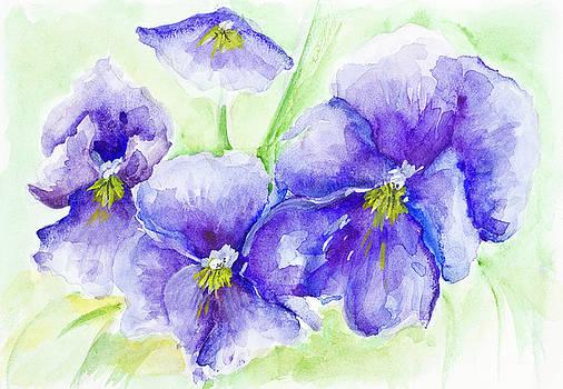 Violets by Aleksandr Volkov