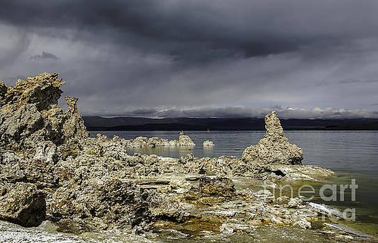 Virga On Mono Lake by Steve Rowland
