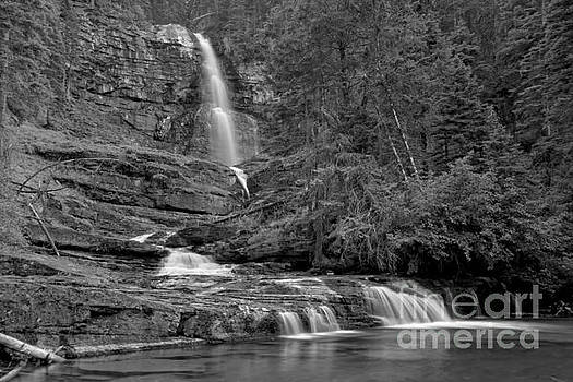 Adam Jewell - Virgina Falls In The Pool - Black And White