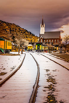 Virginia City Train Yards and St Marys by Janis Knight