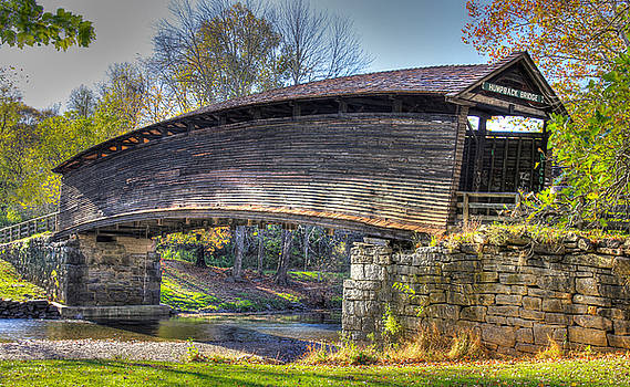 Virginia Country Roads - Humpback Covered Bridge Over Dunlap Creek No. 6A - Alleghany County by Michael Mazaika