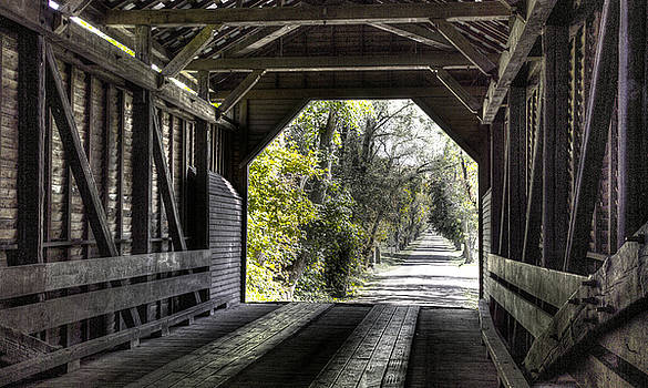 Virginia Country Roads - Time Warp - Meems Bottom Covered Bridge No. 3-Alt Shenandoah County by Michael Mazaika