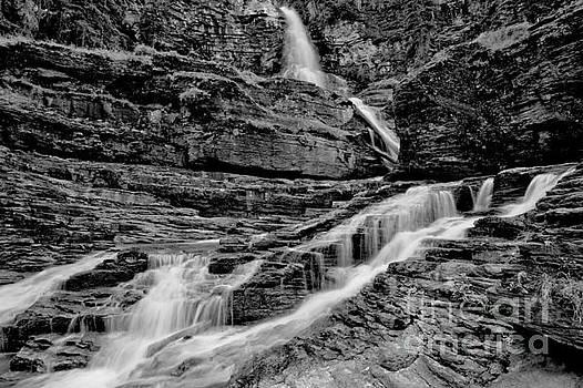 Adam Jewell - Virginia Falls Landscape - Back And White