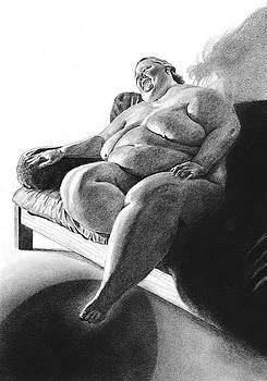 Virginia sitting by Olivier Duhamel