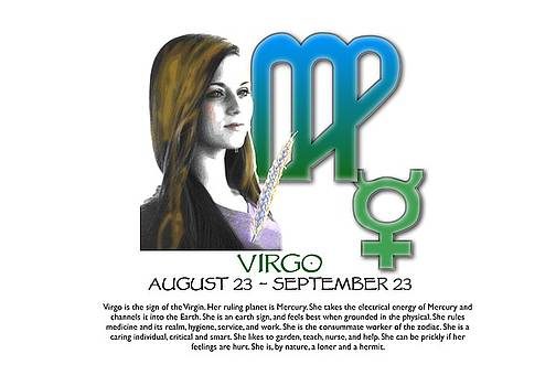 Virgo Sun Sign by Shelley Overton