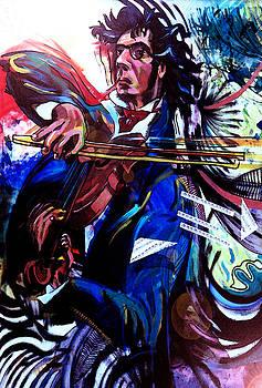 Virtuoso violinist by Jose Roldan Rendon
