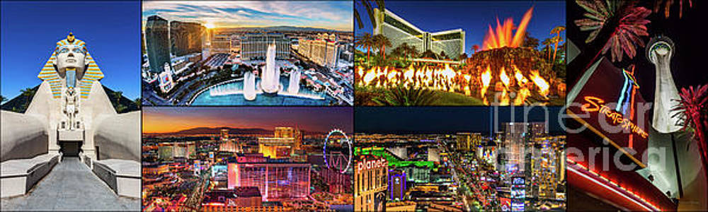 Viva Las Vegas Collection Panorama by Aloha Art