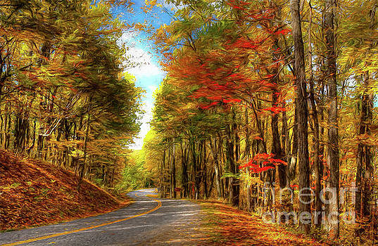 Vivid Autumn in the Blue Ridge Mountains AP by Dan Carmichael