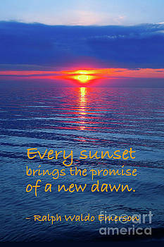 Vivid Sunset with Emerson Quote by Ginny Gaura
