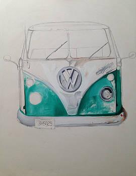 Volkswagen Bus 1 by Paulina Lwowska