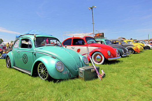 VW Beetles  by Marion Johnson