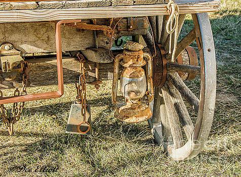 Wagon Lamp by Dee Elliott