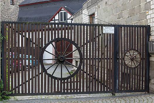 Wagon Wheel Gate by Teresa Mucha