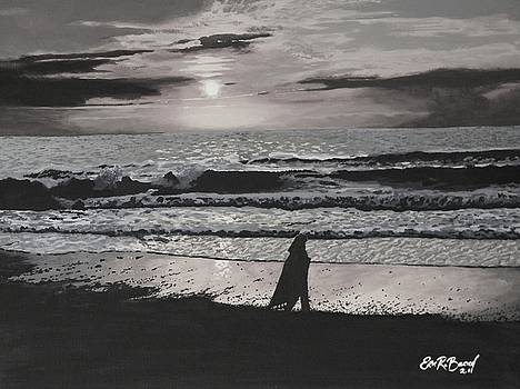 Waiting for Her Love grayscale by Eric Barich