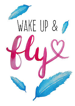 Wake up and Fly watercolor by Michelle Eshleman