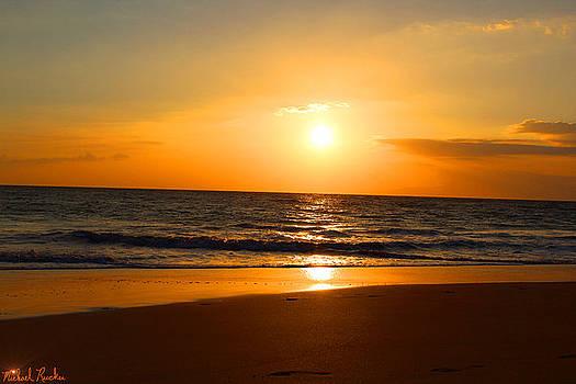 Walk on Hawaiian Beach by Michael Rucker