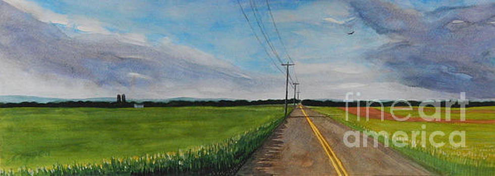 Walking North on Eckhard Road by Robert Coppen