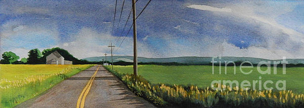 Walking South on Eckhard Road by Robert Coppen