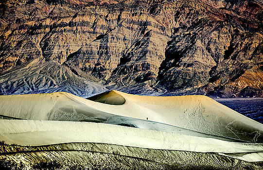Walking the Dunes in Death Valley by Janis Knight