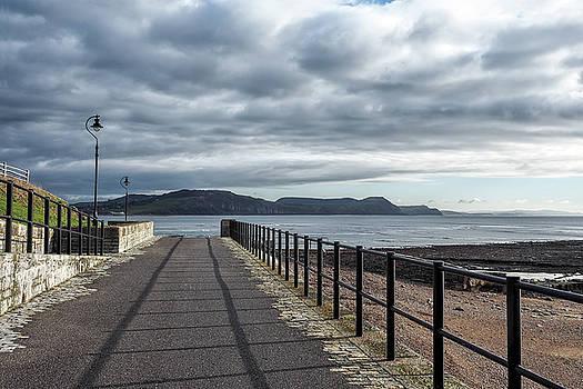 Walkway To Back Beach - Lyme Regis by Susie Peek