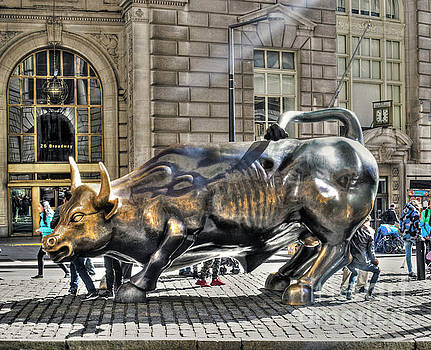 Wall Street Bull by Timothy Lowry