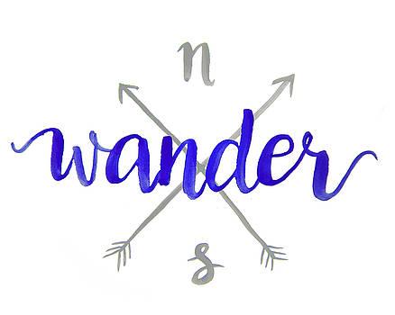Wander Compass Art by Michelle Eshleman