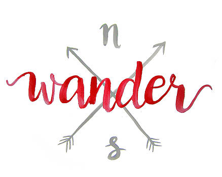 Wander Red Watercolor Print by Michelle Eshleman
