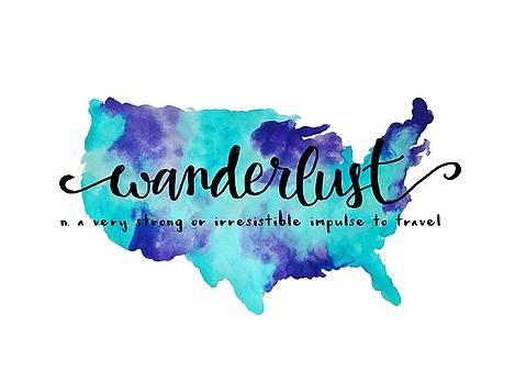 Wanderlust US Map by Michelle Eshleman