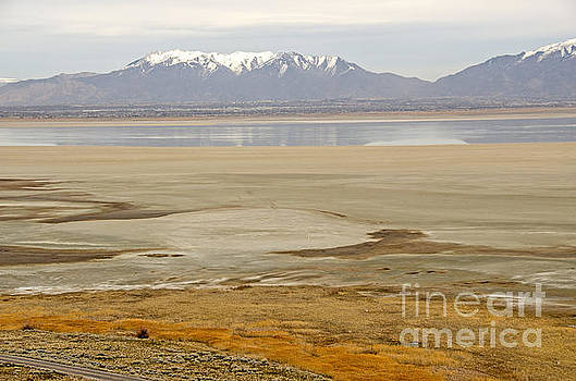 Wasatch Mountains from Antelope Island by Sue Smith