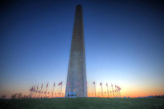 Washington Monument at Sunset by Shelley Neff